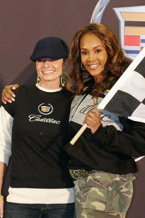 Jaime Yeager and Vivica A Fox at the Cadillac Celebrity Challenge Super Bowl XL
