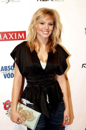 Kristen Bell at the Maxim Rock City Super Bowl XL Party