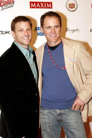 Doug Savant and Marc Moses at the Maxim Rock City Super Bowl XL Party