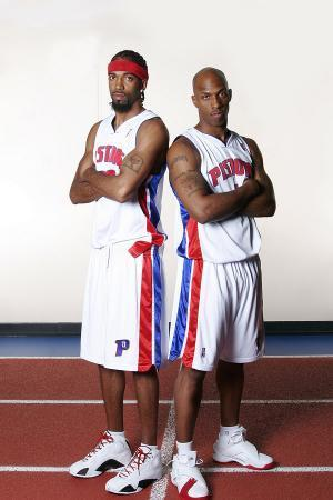 Rip Hamilton and Chauncey Billups of the Detroit Pistons for Real Detroit Cover